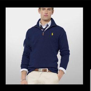 POLO RALPH LAUREN⏳Navy 1/4 Zip Down Pullover XXL